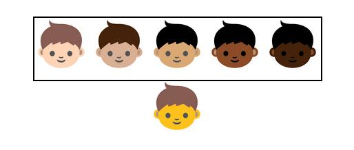 Emojis couleurs de peau