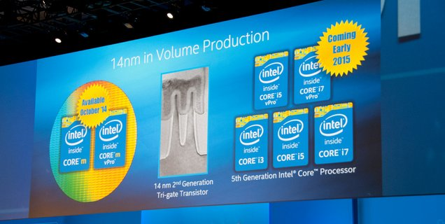 IDF 2014 : Intel Core M : PCN, nouveau stepping et TDP flottant