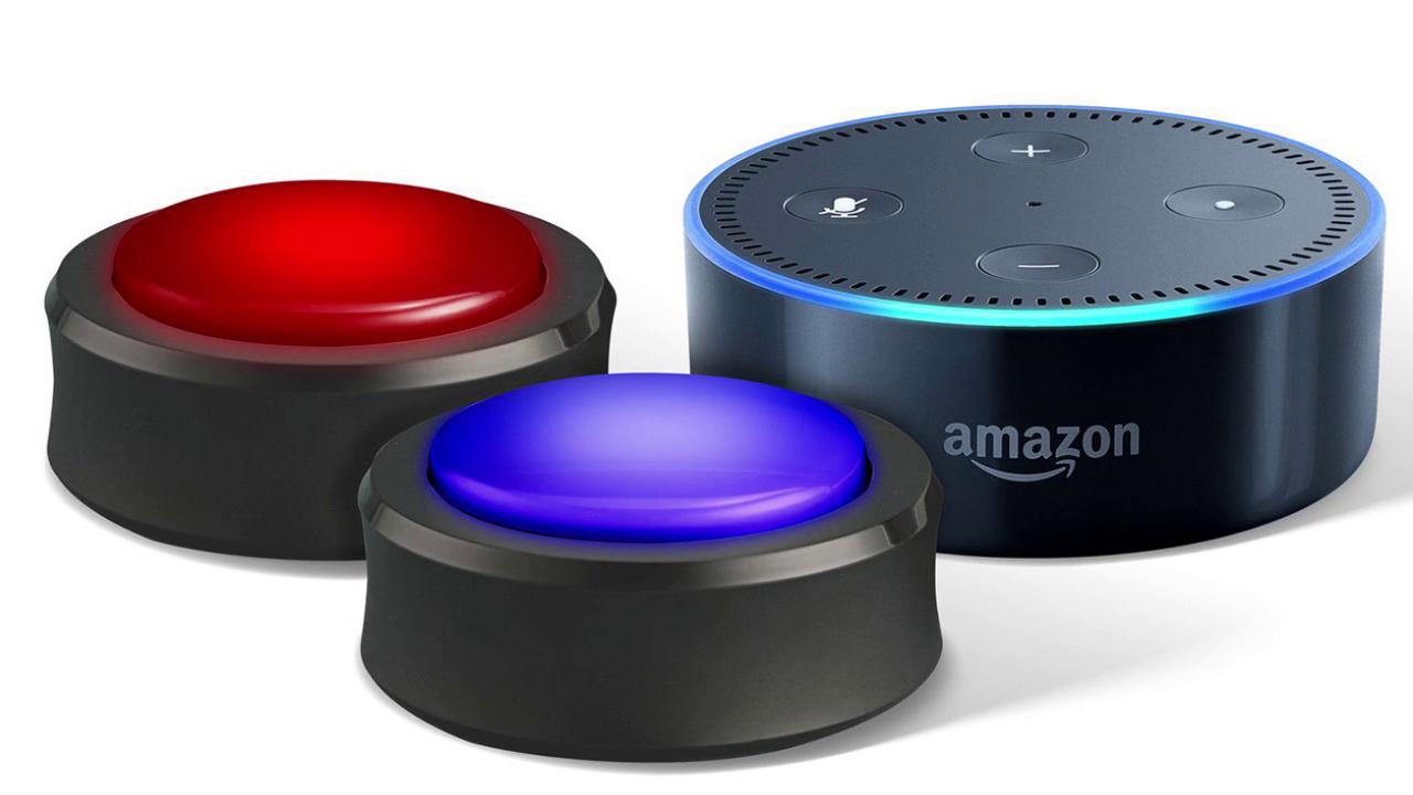 présentation des amazon echo bouton, une sorte de buzzeur pour interragir avec alexa