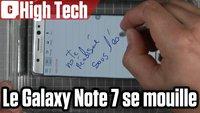 Vidéo Galaxy Note 7 : on a testé le stylet sous l'eau !