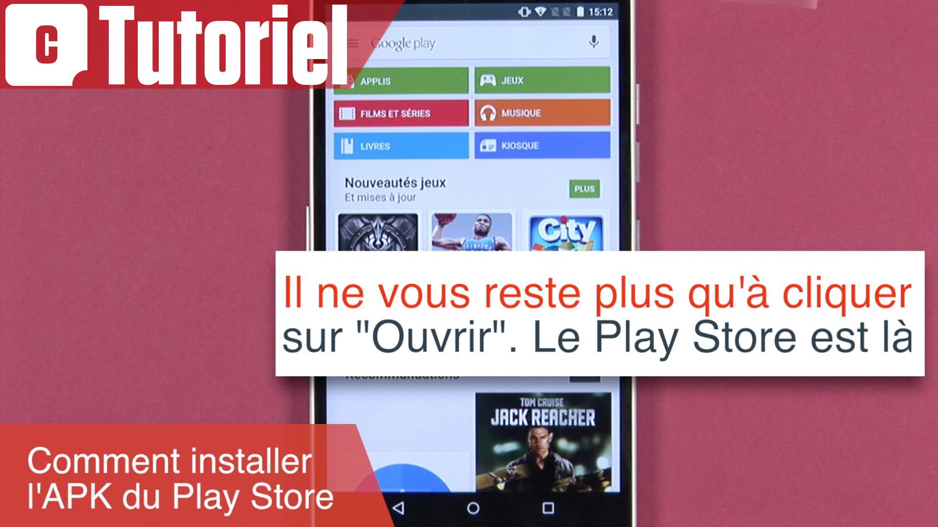 Tuto Comment Installer Manuellement L Apk Du Play Store