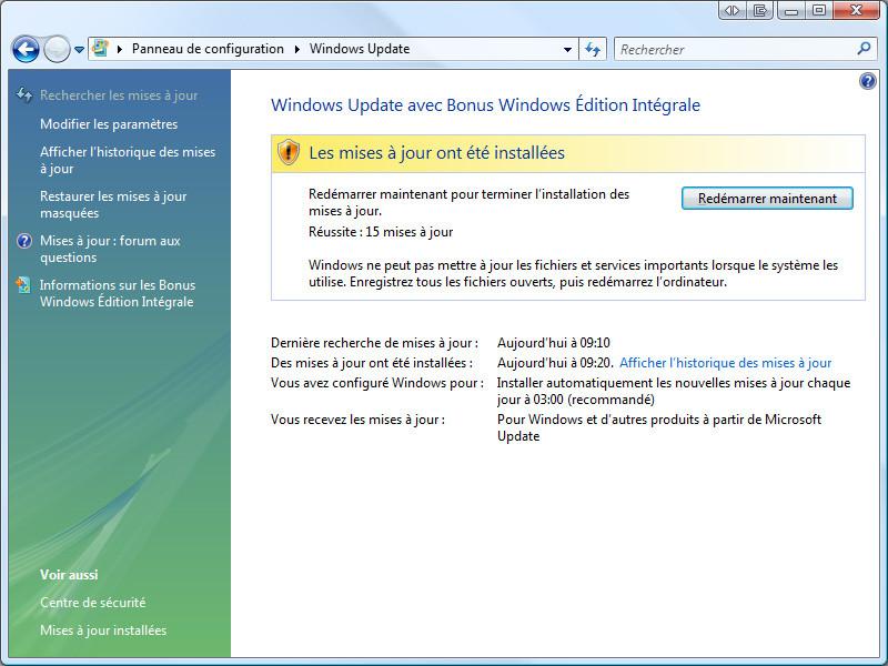 Windows Update - Mises à jour sécurité aout