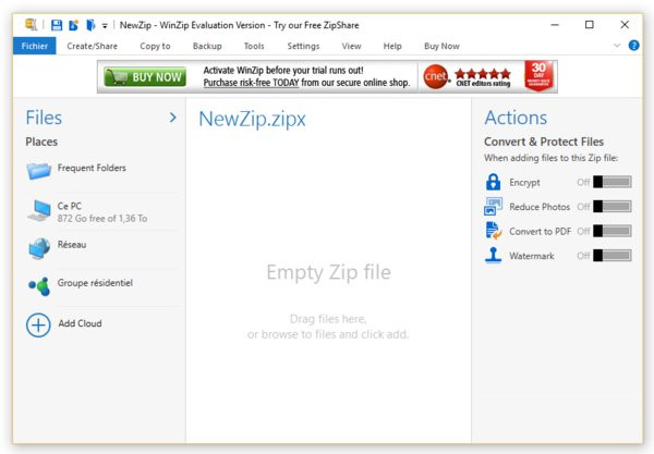 winzip version francaise