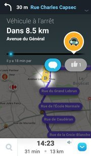 t l charger waze social gps maps traffic android gratuit. Black Bedroom Furniture Sets. Home Design Ideas