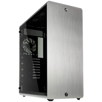 Asterion Classic (Fenêtre) - ArgentATX Micro ATX Aluminium sans alimentation Oui Boitier grand tour Mini ITX 7 140 mm 3 3 Verre trempé E-ATX Argent
