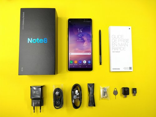 galaxy note 8 unboxing