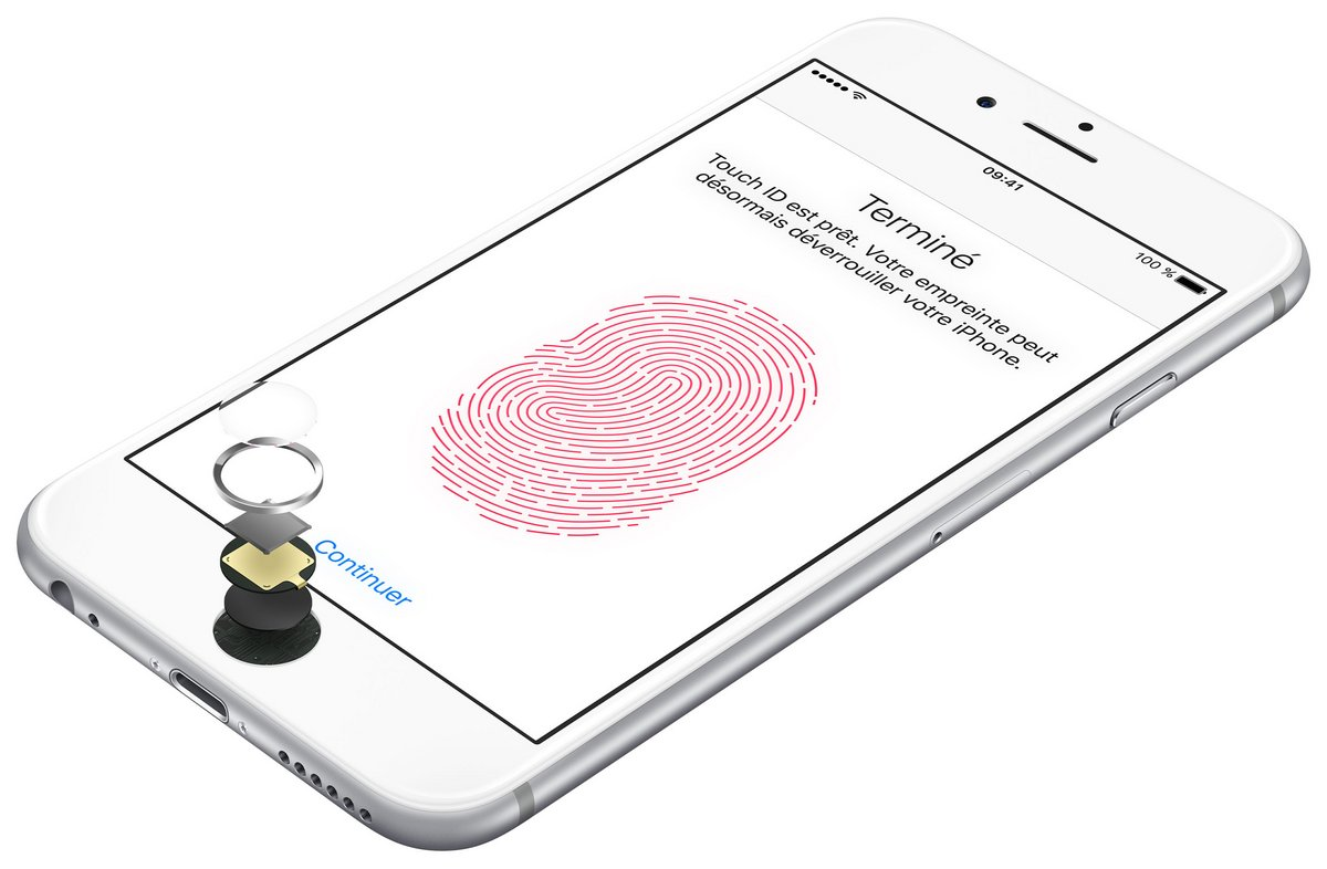 Packshot Apple iPhone 6s Touch ID