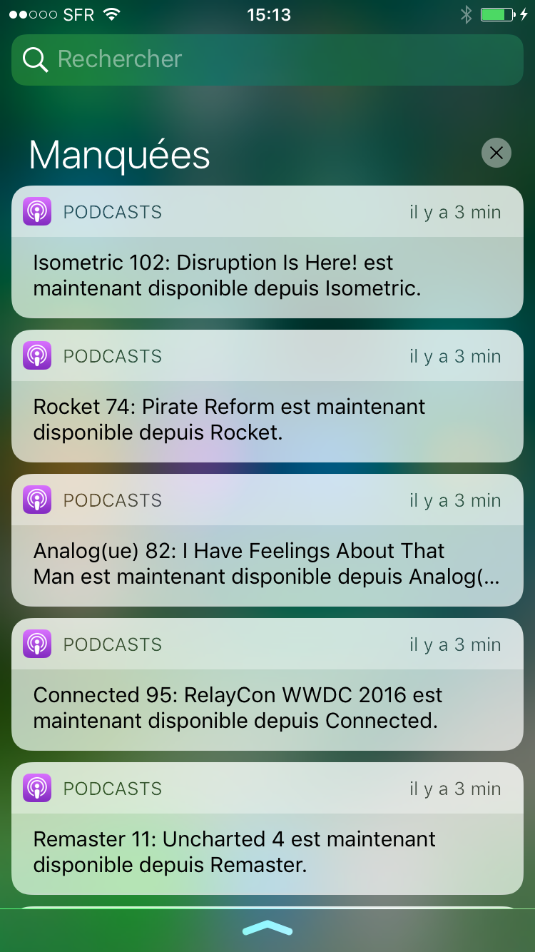 Centre de notifications : un petit air de Material Design ?