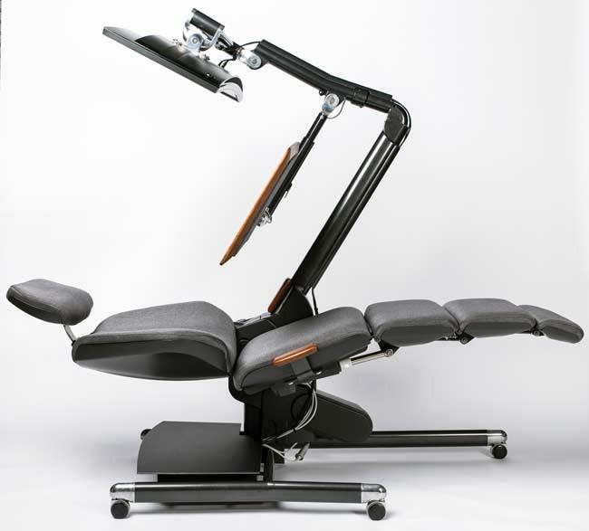 bureau du futur   des chaises pour travailler allong u00e9