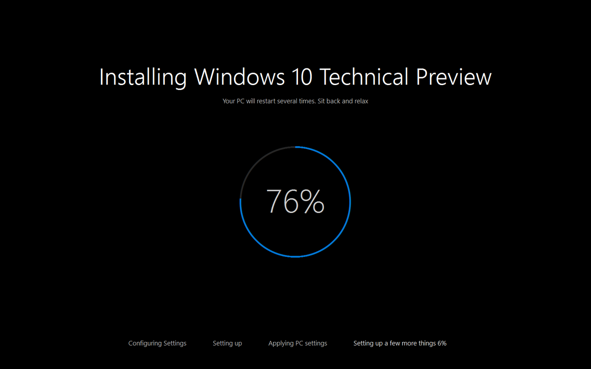 Windows 10 build 10041 - Setup - 1