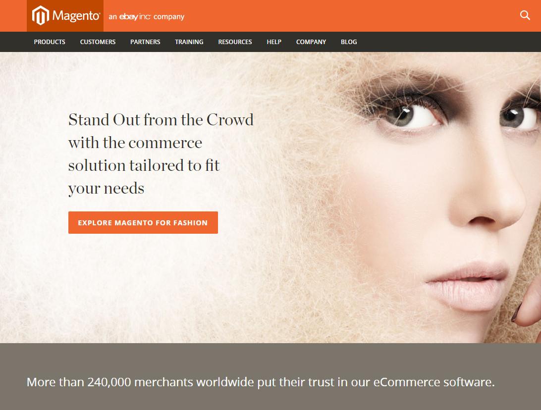 Magento et son système de gestion de contenu © Magento