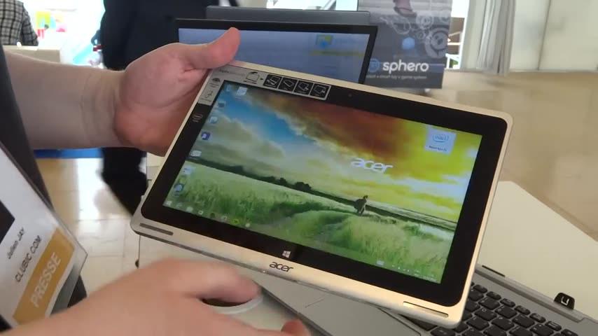 Acer Aspire Switch 10 en vidéo : un hybride concurrent du Transformer T100 ?