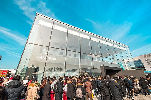 La pavillon de Samsung au MWC 2018