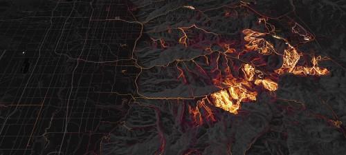 Une heatmap Strava