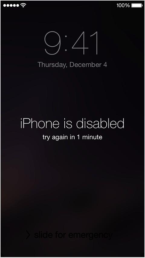 iphone verrouillé