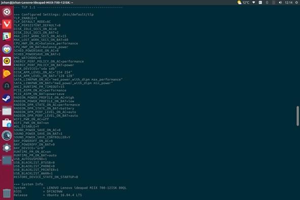 Lenovo Ideapad Linux