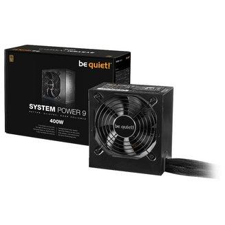 System Power 9 80PLUS Bronze - 400WAlimentation ATX 12V et EPS 12V Interne 1 3 an(s) 80PLUS 87% Non avec ventilateur Bronze 1,82 kg 400 Watts
