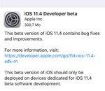 iOS 11.4 est sorti (mais seulement pour les développeurs)