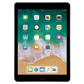 iPad avec écran Rétina Gris Sidéral - 32 Go Wi-Fi (MR7F2NF/A)32Go 9,7 pouces iPad Tablette 10 Heure(s) 4:3 iOS 2048 x 1536 Écran Retina Bluetooth 4.2 IPS LED Tactile 469 g Apple A10 Apple A10 Fusion Wi-Fi AC Apple iOS 11