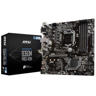 B360M PRO-VDH4 Oui Oui Micro ATX 2 x PCI Express x1 64 Go 1 x PCI Express 3.0 x16 4 Serial ATA III Intel 6 6 2 Intel Socket 1151 8 DDR4 Realtek RTL8111H Intel B360 Express