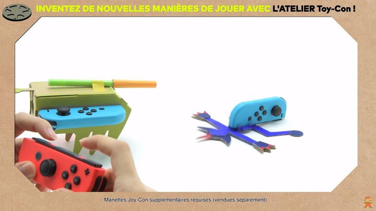 Nintendo Labo attaque monstre