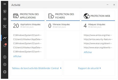 bitdefender interface comparatif antivirus