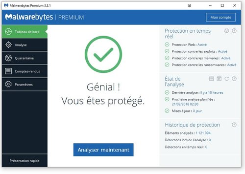 malwarebytes protection exploits comparatif antivirus 2018
