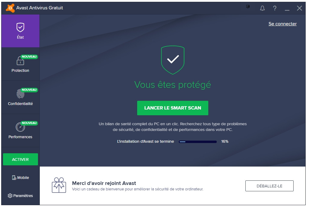 antivirus smart security gratuit clubic
