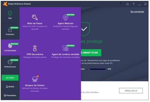 avast antivirus gratuit 2018