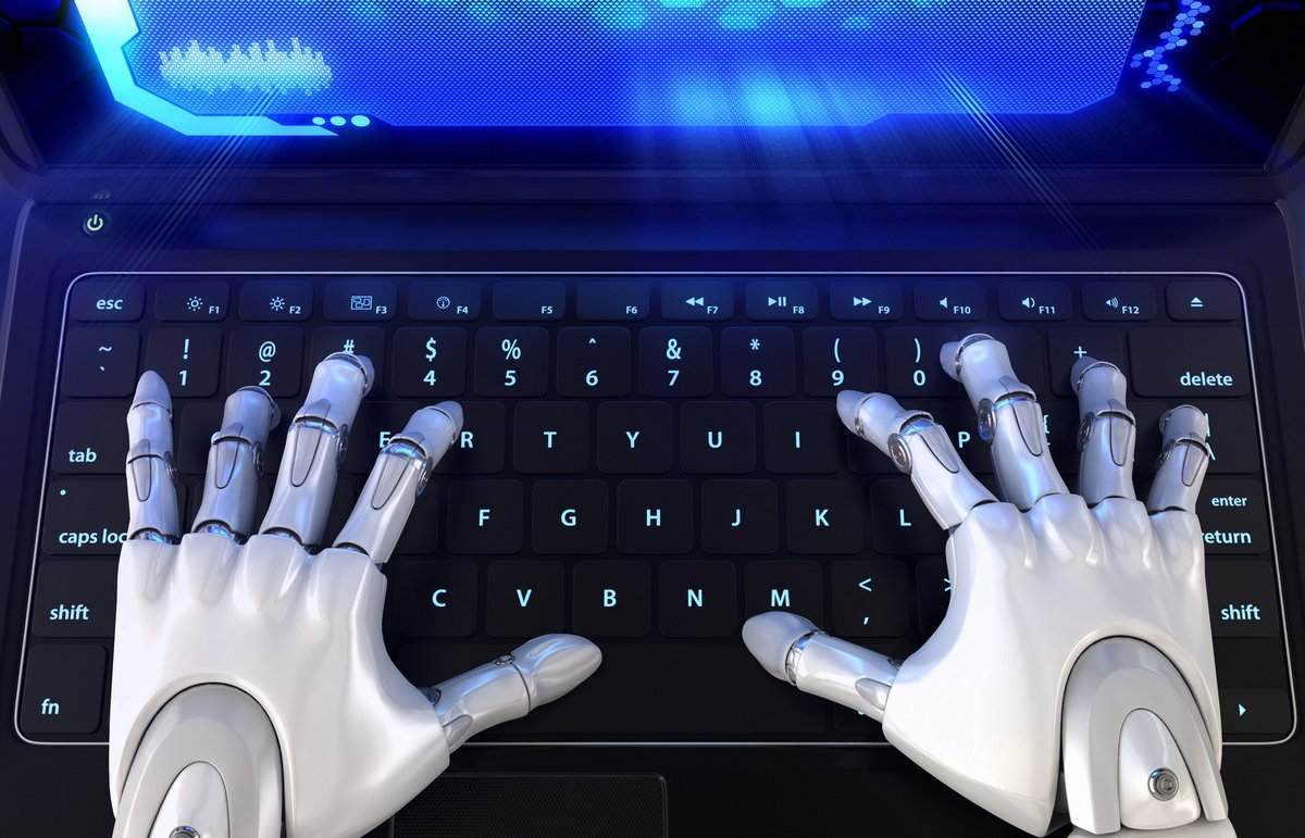 Fotolia robot chatbot clavier © Fotolia