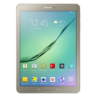 """Galaxy Tab S2 2016 9.7"""" Or 32 Go (SM-T819NZDEITV)Wifi 32Go 9,7 pouces 3G Micro SD High Capacity (Micro SDHC) Android 4G Galaxy Tab S2 3 Go 2048 x 1536 QXGA 12 Heure(s) Micro USB2.0 Bluetooth 4.1 Android 6.0 Marshmallow 1.8 GHz NC 378 g"""