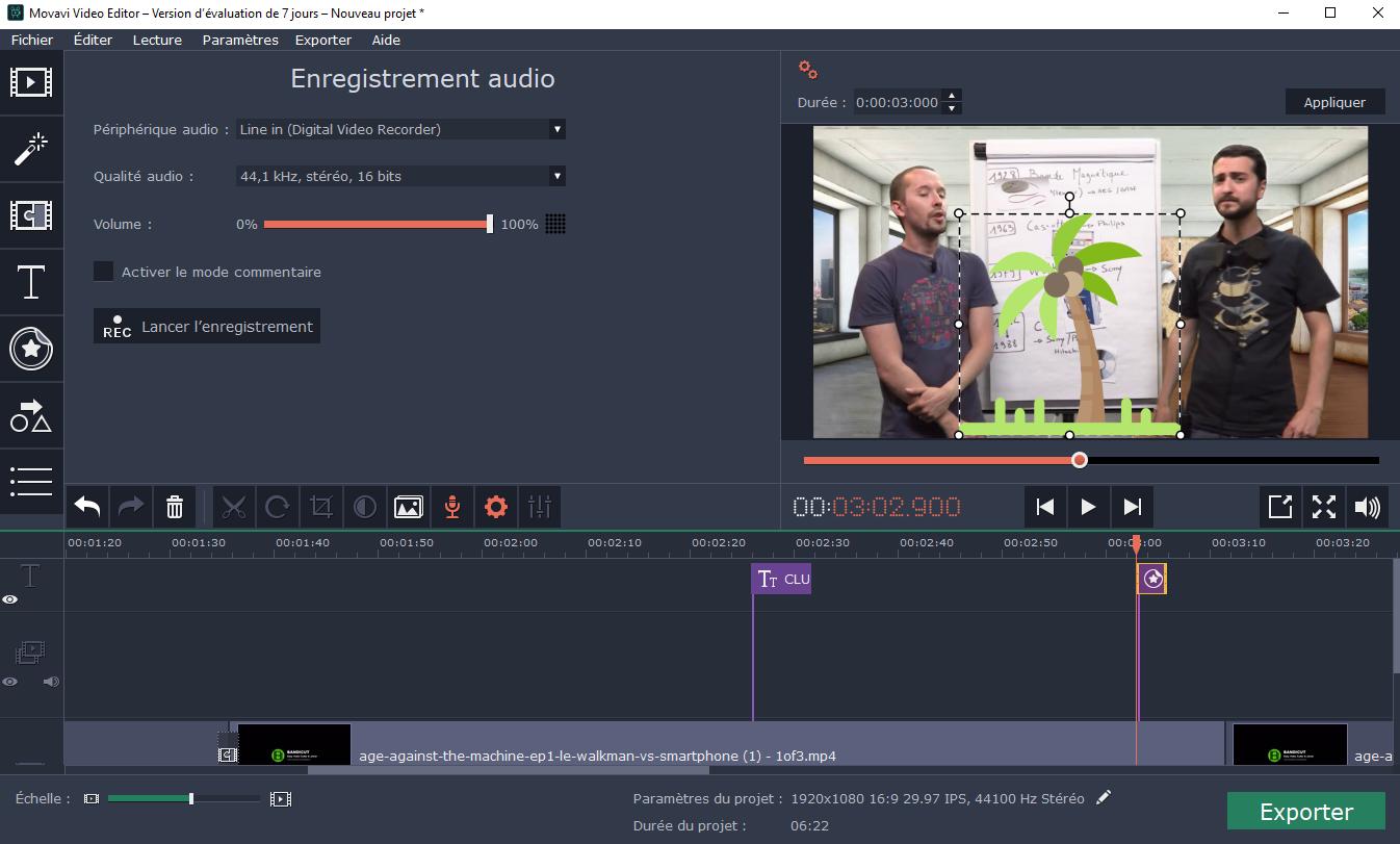 Télécharger Movavi Video Editor pour Windows
