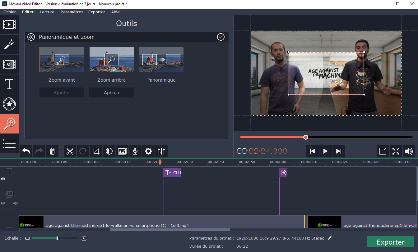 wondershare video editor clubic
