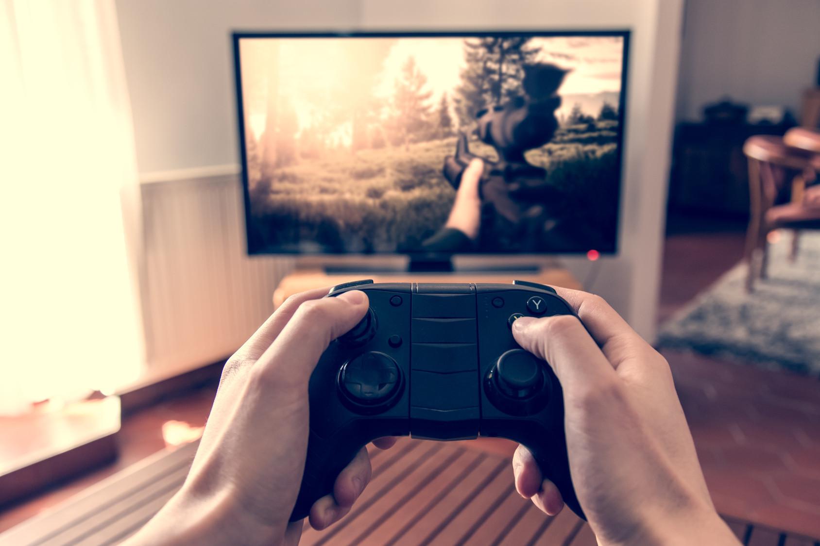 fotolia jeu vidéo fps console