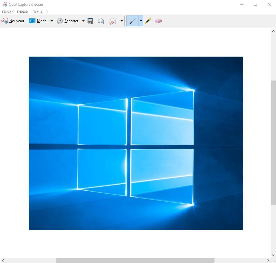 Outil capture d'écran © Microsoft