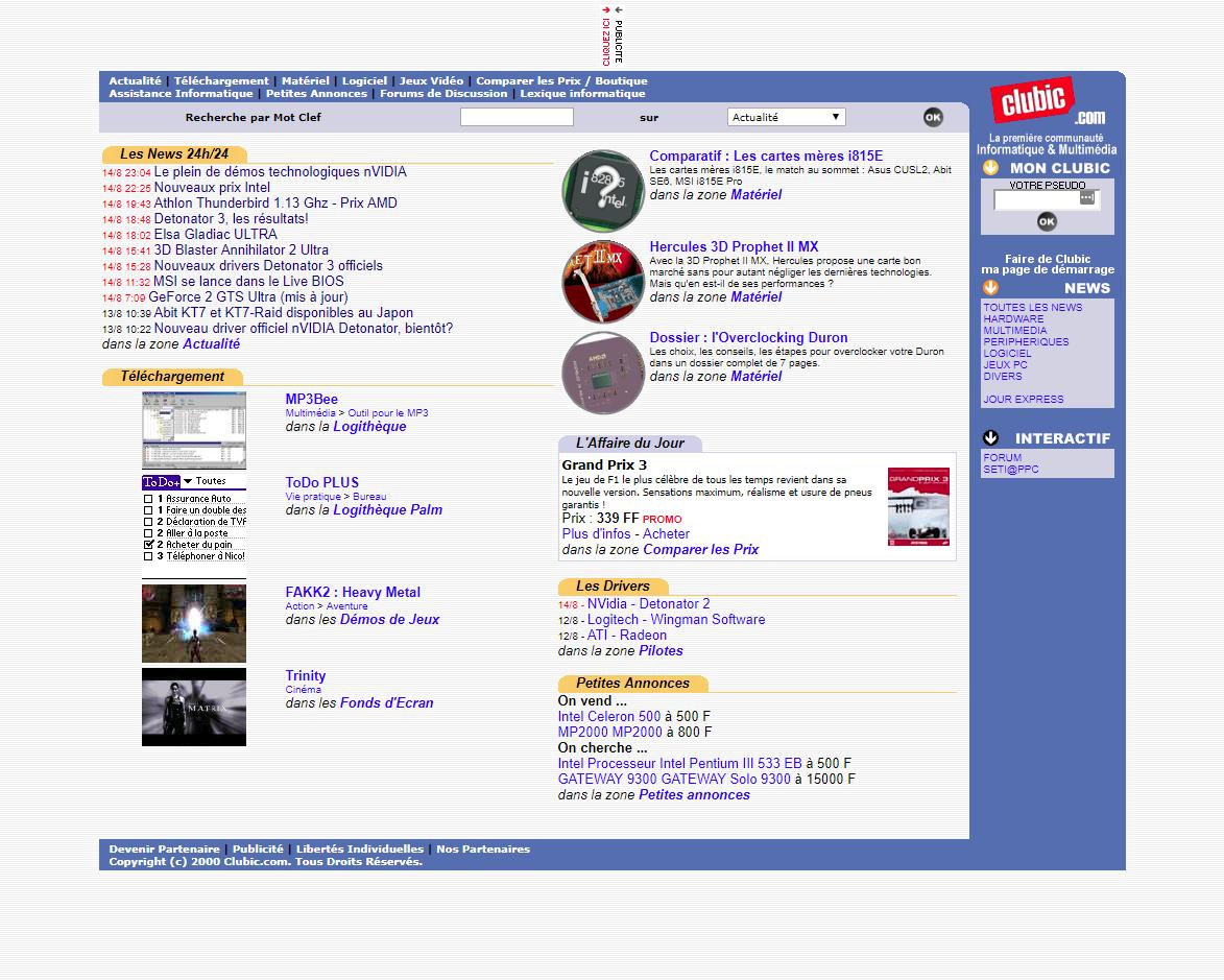 Clubic 2000 © Clubic.com