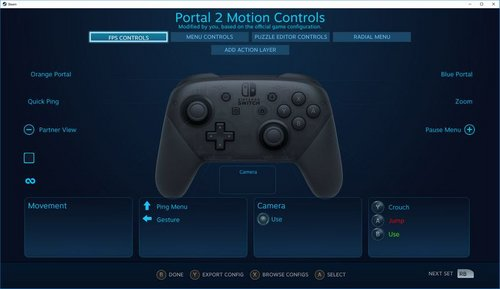 switch pro controller steam