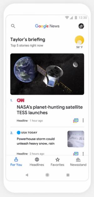 google news refonte 2018