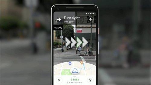 réalité augmentée google map