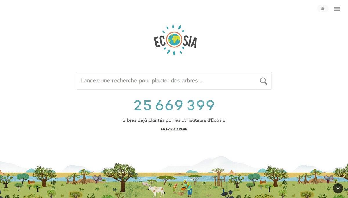 Ecosia nombre d'arbres plantés
