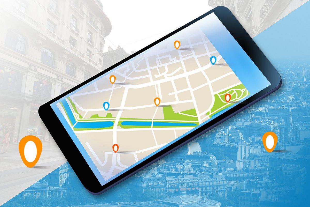 Fotolia application carte google maps