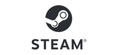 steam logo bw