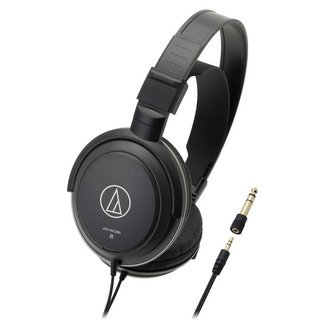 ATH-AVC200 - Noirfilaire 3 mètres Noir 20 Hz à 22 KHz 210 grammes 40 Ohm Jack 3,5 mm Circum-auriculaire