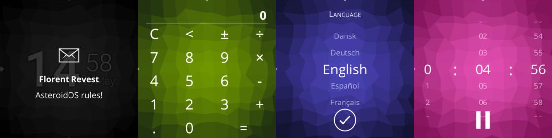 AndroidOS écrans montre