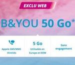 B&You : 50Go à 4,99€/mois pendant un an sans engagement