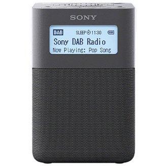 XDR-V20D - NoirPortable sans radio internet Tuner FM RNT Horloge intégrée DAB/DAB+ stéréo