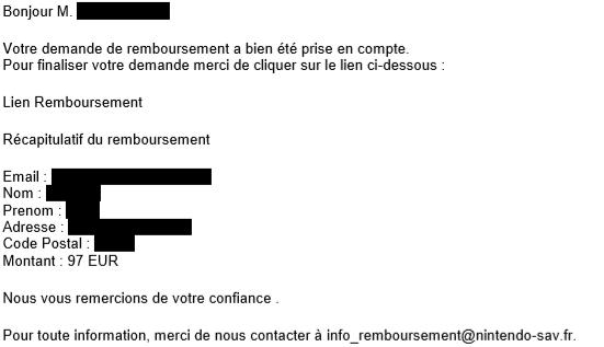 mail phishing nintendo