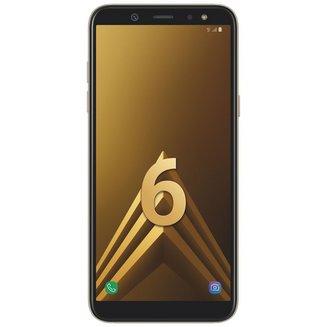 Galaxy A6 - OrMonobloc Edge avec flash 3G avec autofocus avec GPS avec écran tactile avec WiFi 3G+ 3G++ 32 Go Android 4G LTE Smartphone Double SIM 1,6 Ghz Bluetooth 4.2 FM avec APN 16 Mpixels USB 2.0 3 Go Barre 5,6 pouces micro-USB Exynos 7870 Octa-core MicroSD jusqu'à 256Go HSDPA HSUPA avec zoom numérique HSPA+ Galaxy A6 Or