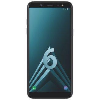 Galaxy A6 - NoirMonobloc Edge avec flash 3G avec autofocus avec GPS avec écran tactile avec WiFi 3G+ 3G++ 32 Go Android 4G LTE Smartphone Double SIM 1,6 Ghz Bluetooth 4.2 FM avec APN 16 Mpixels USB 2.0 3 Go Barre 5,6 pouces micro-USB Exynos 7870 Octa-core MicroSD jusqu'à 256Go HSDPA HSUPA avec zoom numérique HSPA+ Galaxy A6 Noir