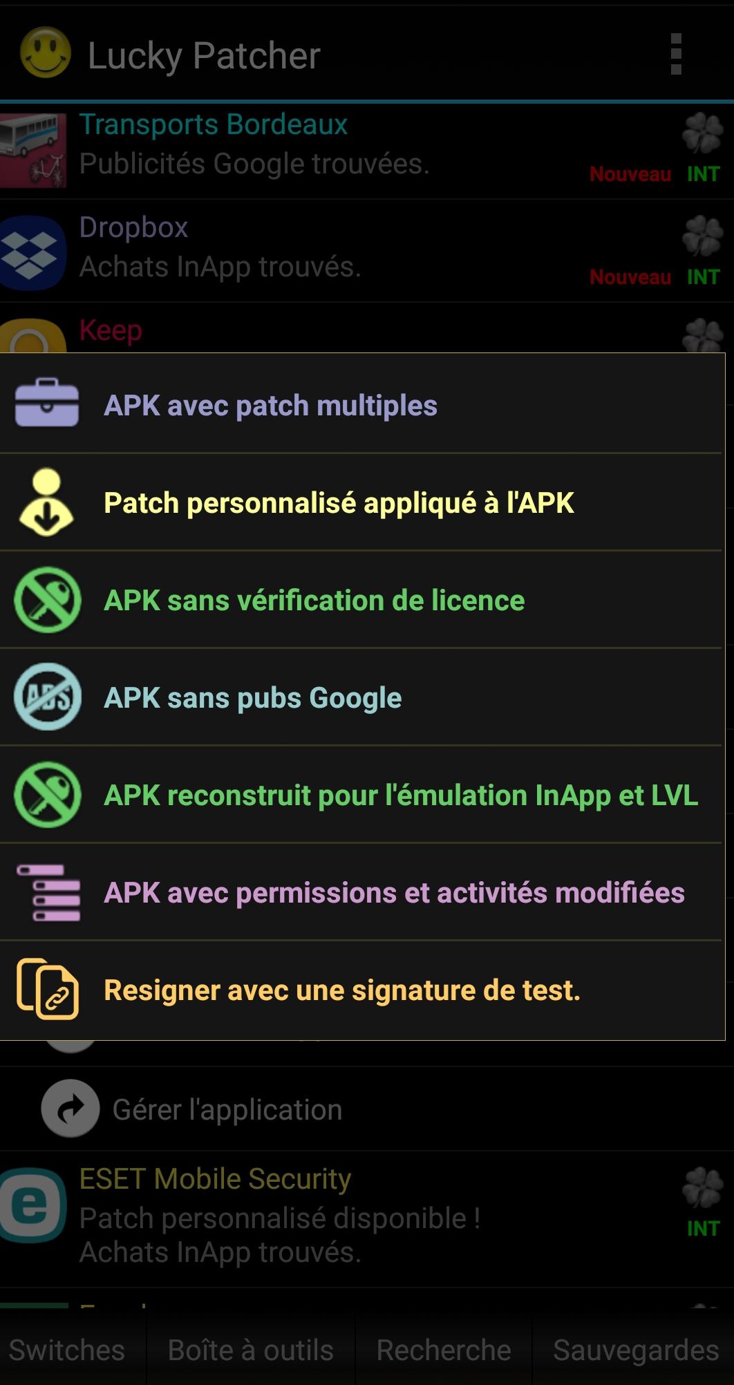 App pour Android apk